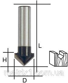 Фреза пазова V-подібна ,DxHxL = 12х12х42 мм FIT