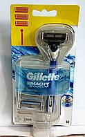 Набор бритвенный станок Gillette Mach3 START +2 сменных картриджа
