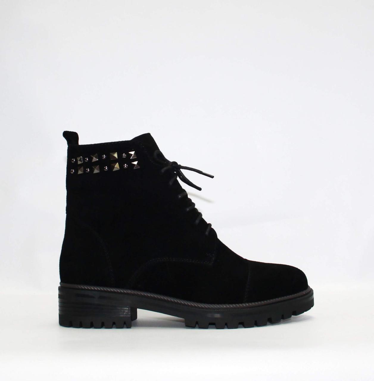 Женские зимние ботинки Respect натуральная замша цигейка 37