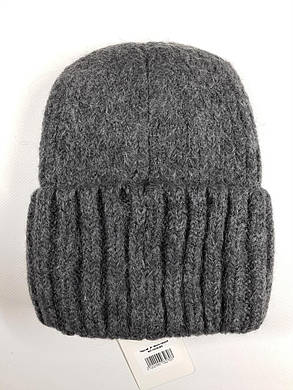 Женская шапка с отворотом Flirt Персия One Size темно-серая, фото 2