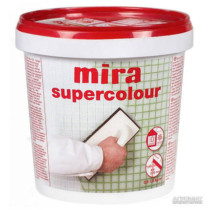 Затирка Mira supercolour №148/1,2кг (темно-коричневая), фото 2