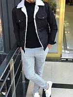 Джинсовая куртка на меху, Турция( два цвета)