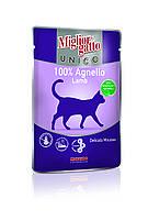 """Влажный корм """"Migliorgatto Unico Lamb"""" 10/4 (с ягненком для котов) 85 гр, Morando"""