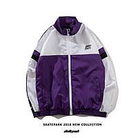 Куртка, ветровка, бомбер Skatepark Violet/White унисекс