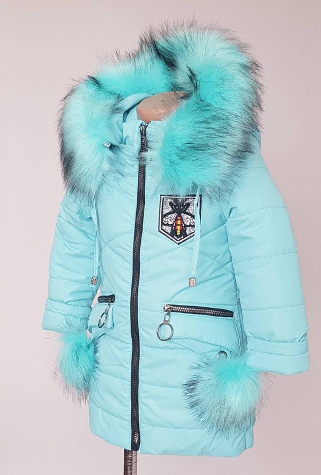 фотография зимняя детская куртка для девочек