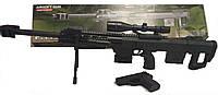 Игрушечный автомат P.1161 с пистолетом 2 в 1, сошки, лазер, фонарь, прицел, пистолет, два магазина