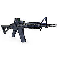 Игрушечная винтовка M4A1 на орбизах, колиматор, стреляет очередью, на аккумуляторе, мягкие пули, автомат м16, фото 1