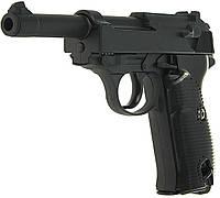 Спринговый металлический пистолет G21 (Walther P38), Вальтер, страйкбол, пистолеты на пульках, фото 1