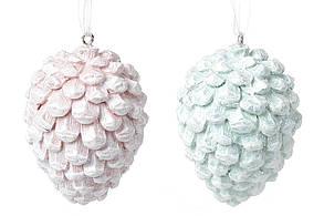 Подвесной декор Шишки, 6,5см, 2 вида - мятный и розовый BonaDi 707-294