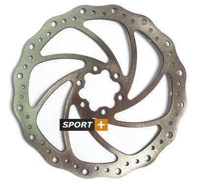 Ротор тормозной диск Tektro Волнистый 180мм под болты,+ 6 болтов