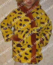 Халат махровий дитячий м'який з капюшоном на 1-7років, фото 3