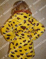Халат махровий дитячий м'який з капюшоном на 1-7років, фото 2