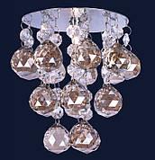 Серебряный светильник с камнями шампань