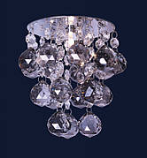 Серебряный светильник с камнями дымчатыми