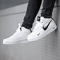 Кроссовки мужские в стиле Off-White X Nike Air Force winter на меху (Реплика ААА+)