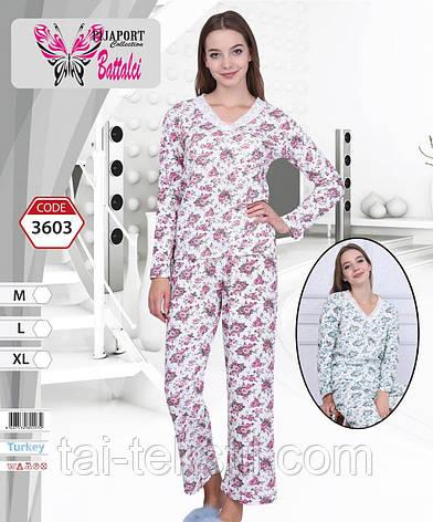 Пижама женская с начесом на байке Турция BATTALCI 3603, фото 2