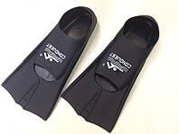 Ласты детские силиконовые укороченные с закрытой пяткой для бассейна р.33-35