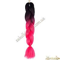 Канекалон омбре косы цветные пряди №2, длина косы: 60 см (120 см в расплетенном состоянии)