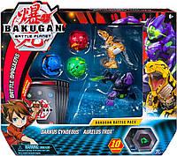 Bakugan Battle planet набор из 5 бакуганов Darkus Cyndeous & Aurelus Trox  Даркус  Синдеус Аурелиси Трокс