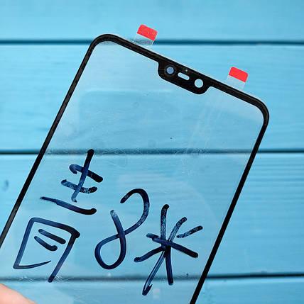 Стекло дисплея для Xiaomi Mi8 Lite черное, фото 2