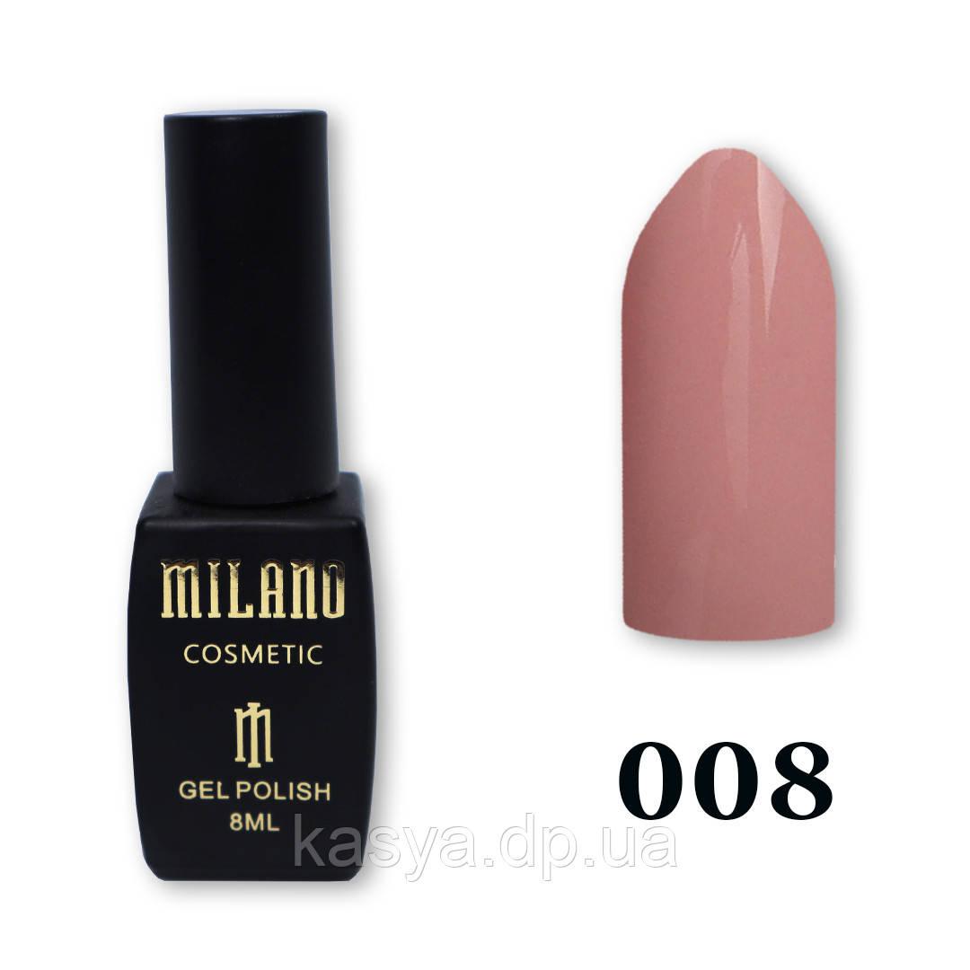 Гель-лак MILANO №008, 8 мл