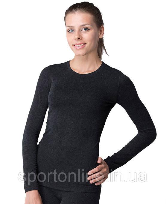 Термобельё женское Кифа повседневное с шерстью, комплект черный