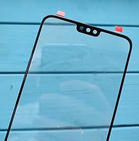 Стекло дисплея для Huawei Honor 8X черное (для переклейки)