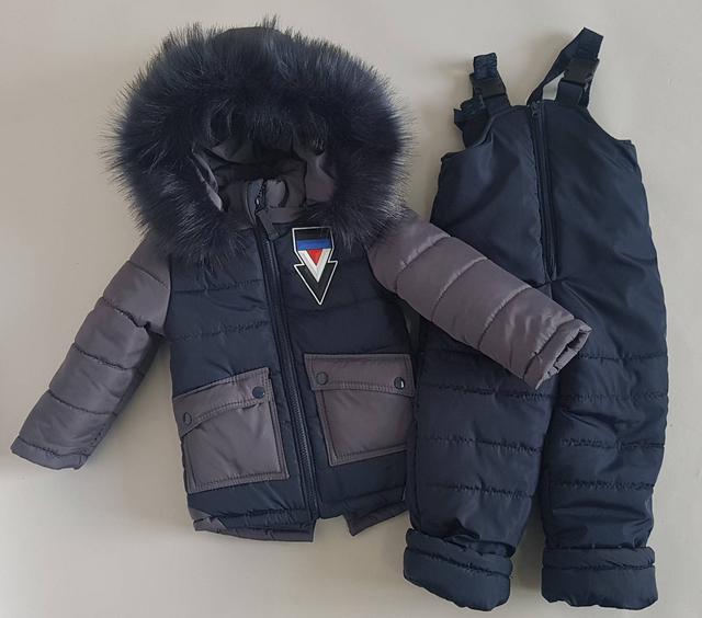фотография детский зимний полукомбинезон с курткой