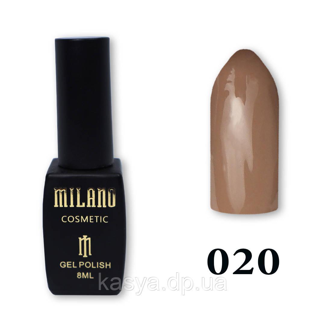 Гель-лак MILANO №020, 8 мл
