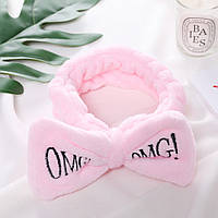 Розовая повязка на голову OMG