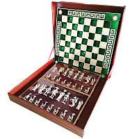 """Шахматы """"Мушкетеры"""" 45х45 Marinakis, зелёная доска, металлические"""