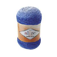 Плюшевая пряжа Пряжа Alize Softy Plus Ombre Batik 7282 (нитки для вязания Ализе Софти Плюс Омбре Батик)