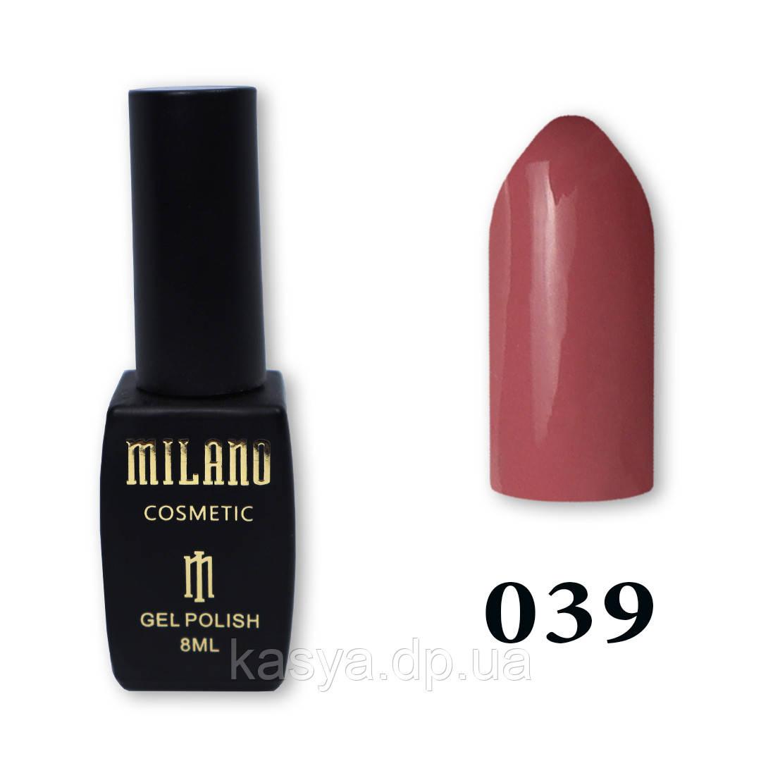 Гель-лак MILANO №039, 8 мл