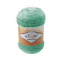 Плюшевая пряжа Пряжа Alize Softy Plus Ombre Batik 7286 (нитки для вязания Ализе Софти Плюс Омбре Батик)