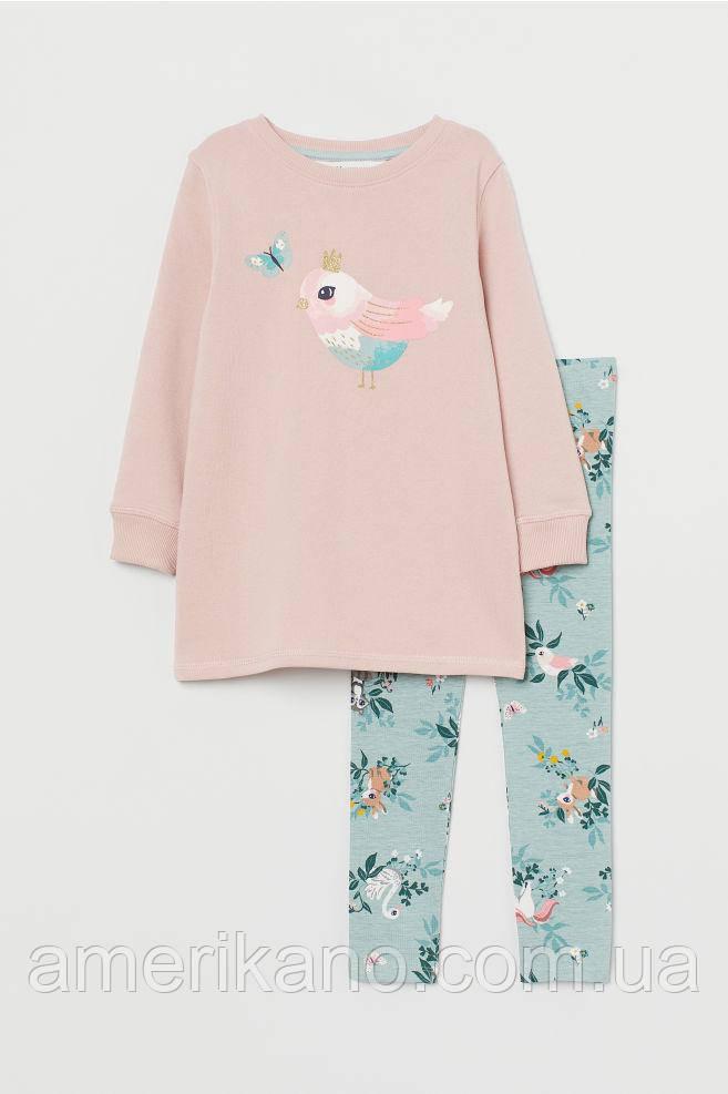 Комплект лосины и свитшот H&M для девочек