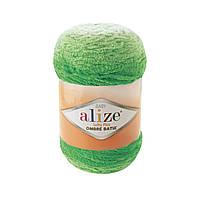 Плюшевая пряжа Пряжа Alize Softy Plus Ombre Batik 7287 (нитки для вязания Ализе Софти Плюс Омбре Батик)