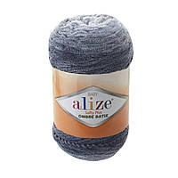 Плюшевая пряжа Пряжа Alize Softy Plus Ombre Batik 7288 (нитки для вязания Ализе Софти Плюс Омбре Батик)