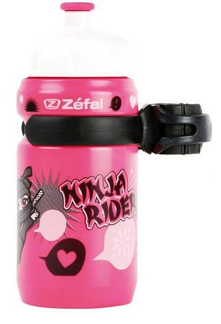 Фляга Zefal LittleZ Ninja-Girl (162I) 350мл пласт. детская, с унив. крепежом, розовая, фото 2