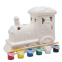 Набор для детского творчества - паровоз, 6 красок, (021697)