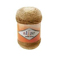 Плюшевая пряжа Пряжа Alize Softy Plus Ombre Batik 7289 (нитки для вязания Ализе Софти Плюс Омбре Батик)