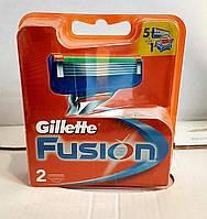 Сменные кассеты для бритья Gillette Fusion 2 шт. в упаковке