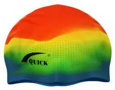 Шапочка для плавания QUICK 3D с линиями. CL
