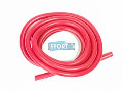 Эспандер - жгут трубка для фитнеса из латекса, красный. 0,35*0,5*1,2*300 см. G120-35