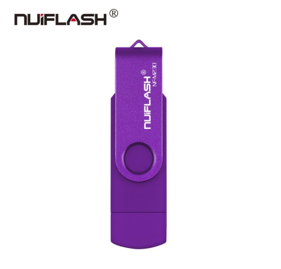 USB OTG флешка Nuiflash 32 Gb micro USB Цвет Фиолетовый ОТГ для телефона и компьютера