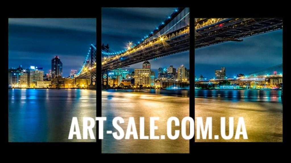 Модульная картина Мост Нью Йорк