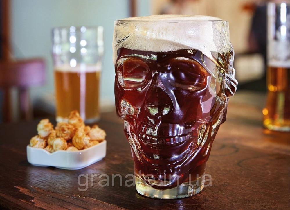 Бокал Кружка для пива Череп 900 мл