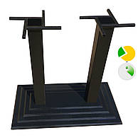 Чугунная опора для стола Ле Ман двойная, фото 1