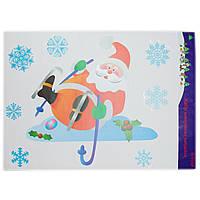 Лист с декоративными новогодними наклейками, Дед Мороз (070168-2)