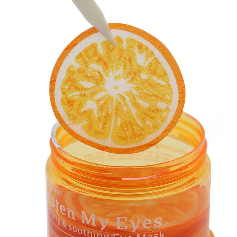 Патчи для кожи вокруг глаз с экстрактами апельсина и зелёного чая BIOAQUA Moisten My Eyes