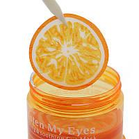 Патчи для кожи вокруг глаз с экстрактами апельсина и зелёного чая BIOAQUA Moisten My Eyes, фото 1